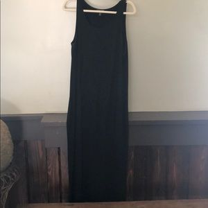 Eileen Fisher  jersey scoop neck midi dress